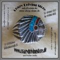 Ring , Indianerkopf , Zuni , traditionell , doppelfarbig